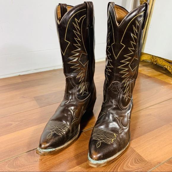VTG  boulet leather cowboy boots